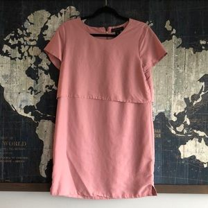 Tahari Top Layer Light Pink Dress